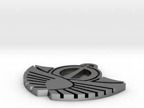 Solar Empire Pendant in Polished Silver