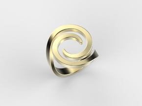 Fashion ring in 18k Gold Plated Brass