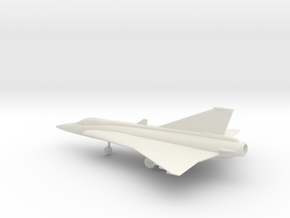 Saab J.35 Draken in White Natural Versatile Plastic: 1:72