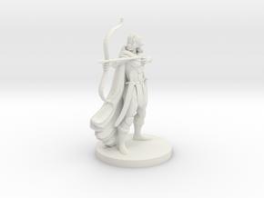 Elf Female  Ranger in White Natural Versatile Plastic