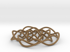 Rose knot 6/5 (Rope) in Natural Brass: Small