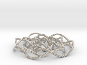 Rose knot 6/5 (Rope) in Platinum: Small