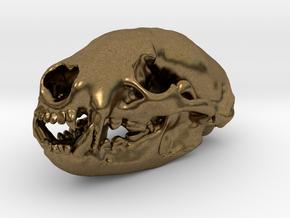 BADGER Skull Pendant in Natural Bronze