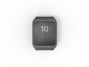Sony SmartWatch 3 adapter 20mm in Black Strong & Flexible