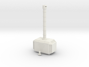 Mjolnir, Beacon of Thunder in White Natural Versatile Plastic: Small