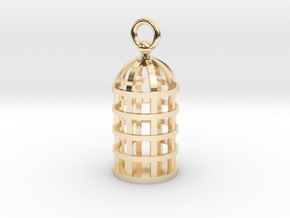 Cage Pendant in 14K Yellow Gold