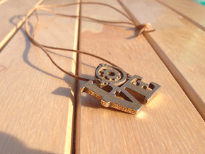 LOVE Rotary Pendant  in Polished Bronzed Silver Steel