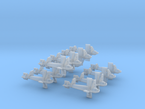 1/200 DKM Paravane Set x12 in Smooth Fine Detail Plastic