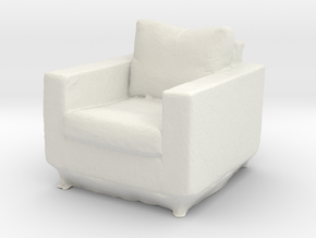 Printle Thing Armchair - 1/32 in White Natural Versatile Plastic
