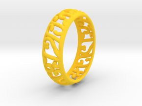 Sun Princess Ring in Yellow Processed Versatile Plastic