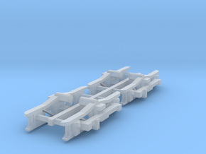 #160-1099 Truck frames for static display in Smoothest Fine Detail Plastic