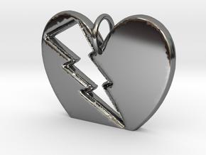 Lightening in your Heart pendant in Premium Silver