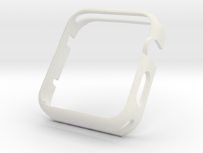 Apple Watch Gold Cover Case 42mm in White Natural Versatile Plastic