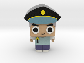 Policeman in Full Color Sandstone
