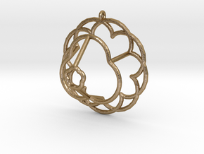 Epicycloid Pendant in Polished Gold Steel