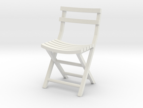 Bistro Chair various scales in White Natural Versatile Plastic: 1:48 - O