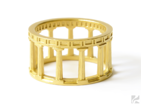 Greek Ring in 14k Gold Plated: 6.5 / 52.75
