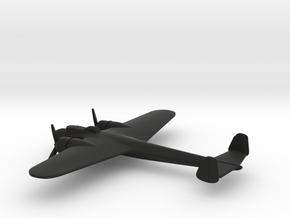 Dornier Do 17P (w/o landing gears) in Black Natural Versatile Plastic: 1:200