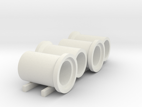 N scale (1:160) barge of sewer pipes for DAF DO 24 in White Strong & Flexible