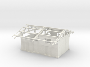 Gare TPT / TPT station building 00 scale 1:76 in White Strong & Flexible