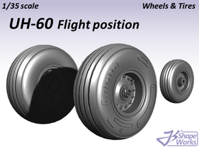 1/35 UH-60 Wheels & Tires Flight position in Frosted Ultra Detail