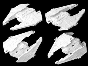 Sith Fury Interceptor (Wings Closed) 1/270 in White Strong & Flexible