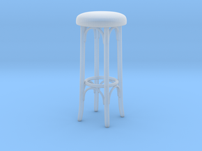 Printle Thing Barstool 01 - 1/24 in Smooth Fine Detail Plastic