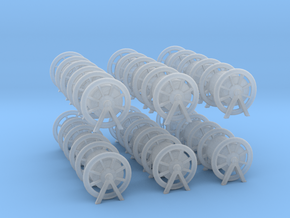 1/200 Rope Barrel Small Set x18 in Smooth Fine Detail Plastic
