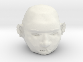 BOB The 3D Printed Face in White Natural Versatile Plastic