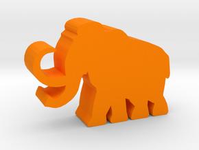 Game Piece, Mammoth in Orange Processed Versatile Plastic