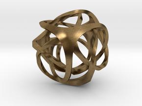 Pendant_Tetrahedron Twist No.2 in Natural Bronze