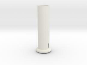 Fiber Optic Whip Handle in White Natural Versatile Plastic