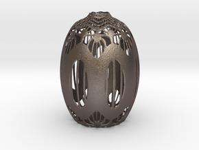 Vase 142 in Polished Bronzed Silver Steel