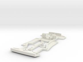 Chassis for Scalextric Ferrari F40 in White Natural Versatile Plastic