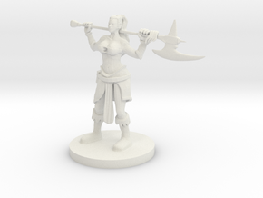 Human Female Barbarian 2 in White Natural Versatile Plastic