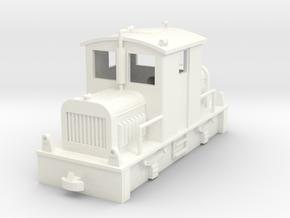 Diesel Tractor H0e in White Processed Versatile Plastic