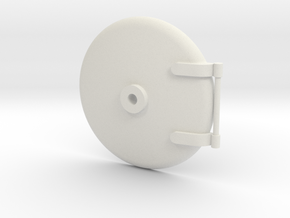 Smokebox Door (30mm Boiler) in White Natural Versatile Plastic