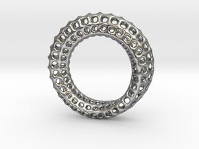 Voronoi Mobius #1 in Natural Silver