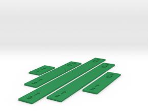 Customizable Straight Movement Sticks in Green Processed Versatile Plastic