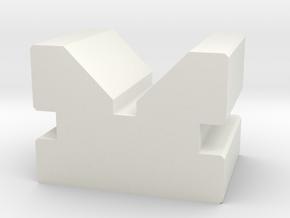 V Block in White Natural Versatile Plastic