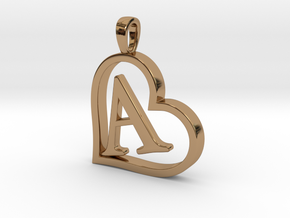 Alpha Heart 'A' Series 1 in Polished Brass