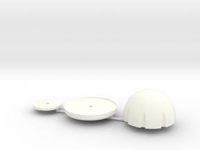 1/10 scale EXPEDITION RV SATELLITE in White Processed Versatile Plastic