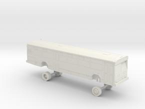 HO Scale Bus Gillig Phantom AC Transit 2600s in White Natural Versatile Plastic