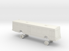 HO Scale Bus NABI 40-LFW AC Transit 4050s in White Natural Versatile Plastic
