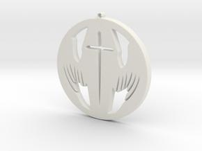 Winged Coffin in White Natural Versatile Plastic