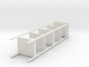 Miniature HEMNES Shelf Unit - IKEA in White Natural Versatile Plastic: 1:12