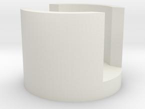 AT-AT End Cap in White Natural Versatile Plastic