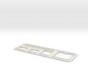 Han Solo Carbonite Panel Top in White Natural Versatile Plastic