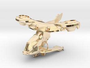 AV-14 Hornet  1:100 in 14K Yellow Gold