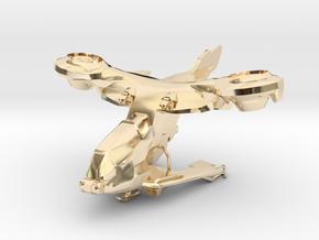 AV-14 Hornet  1:100 in 14k Gold Plated Brass